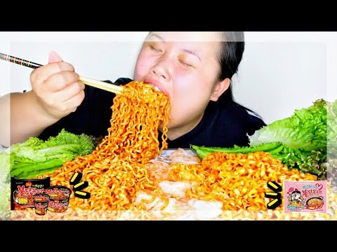 SPICY NUCLEAR FIRE NOODLES + CARBO FIRE NOODLE 먹방 (EATING SHOW)