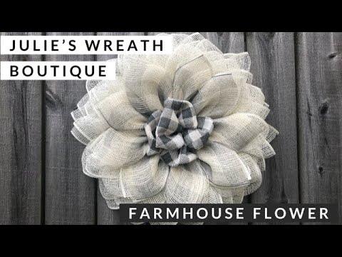 Farmhouse Wreath Front Door Wreath Flower Wreath Tutorial Youtube