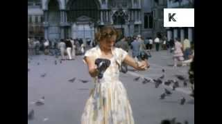 1950s Venice, Italy, Colour 16mm Home Movie Archive Footage