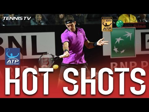 Hot Shot: Del Potro Goes Nuclear With This Forehand In Rome 2017