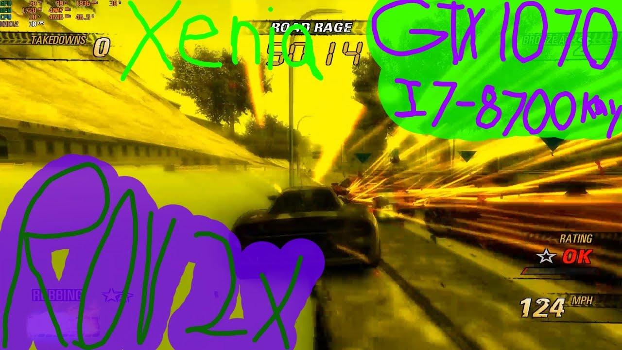 Burnout Revenge (PC Xenia d3d12 Technology ROV 2x)
