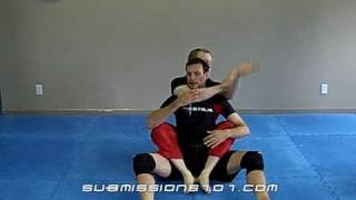 Attempted Rear Choke: Escape with Hooks in