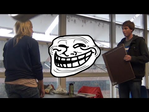 LADY PISSED AT THE LIBRARY (Prank Montage)