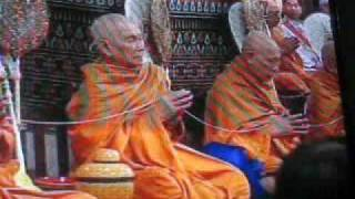 Thai Monks Chant at King