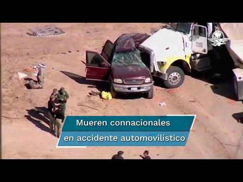 Mueren 10 mexicanos en choque en California, informa SRE
