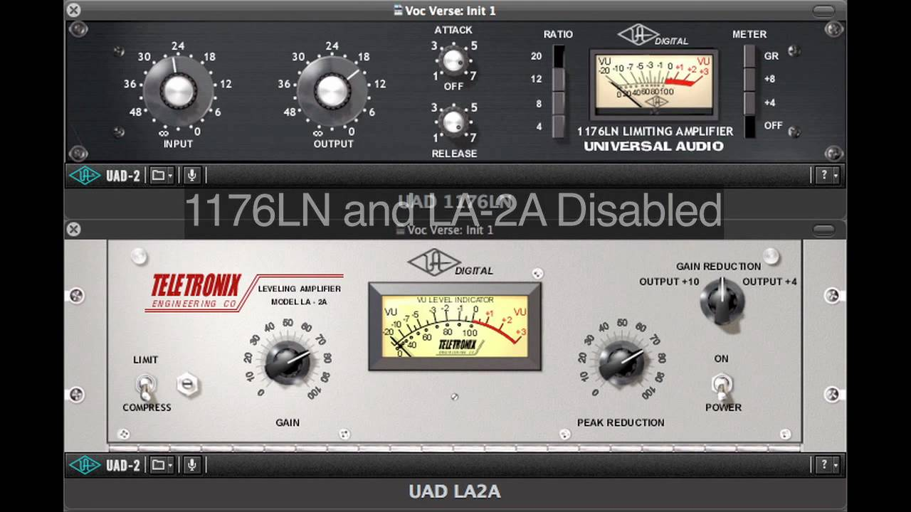 Chaining the 1176LN and LA2A compressors for maximum control