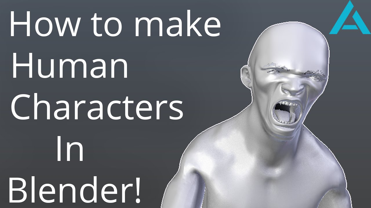 Easy Character Modeling Blender : How to make human characters in blender easy and fast