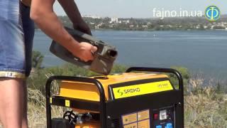 однофазный бензиновый генератор Sadko GPS-3000 в работе