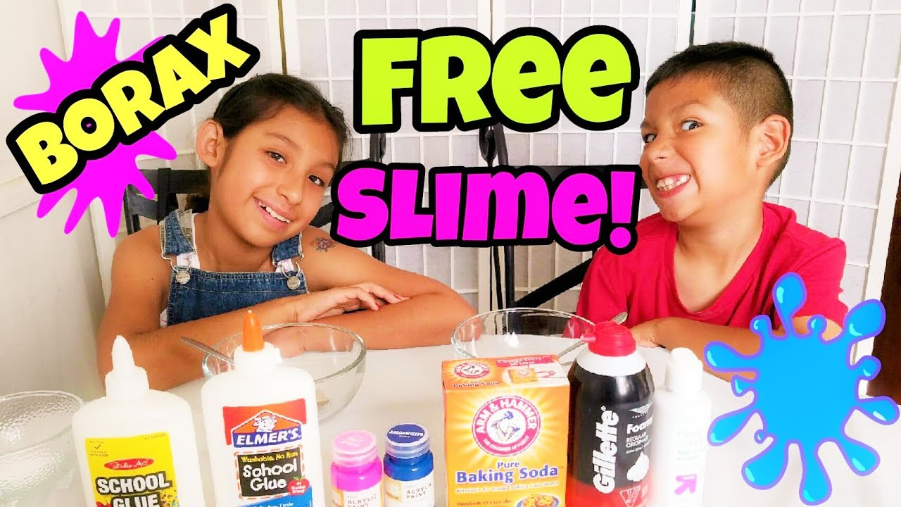 How to make slime with glue shaving cream and baking soda without how to make slime with glue shaving cream and baking soda without borax diy fluffy slime ccuart Choice Image