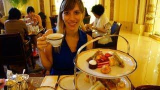 Having Afternoon English Style High Tea at the Peninsula Hotel in Hong Kong, China (香港半島酒店)