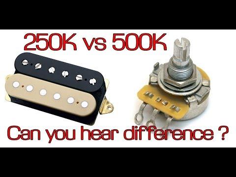 250K Vs 500K Volume Pot For Humbucker   [ HD ] Guitar Secrets #1