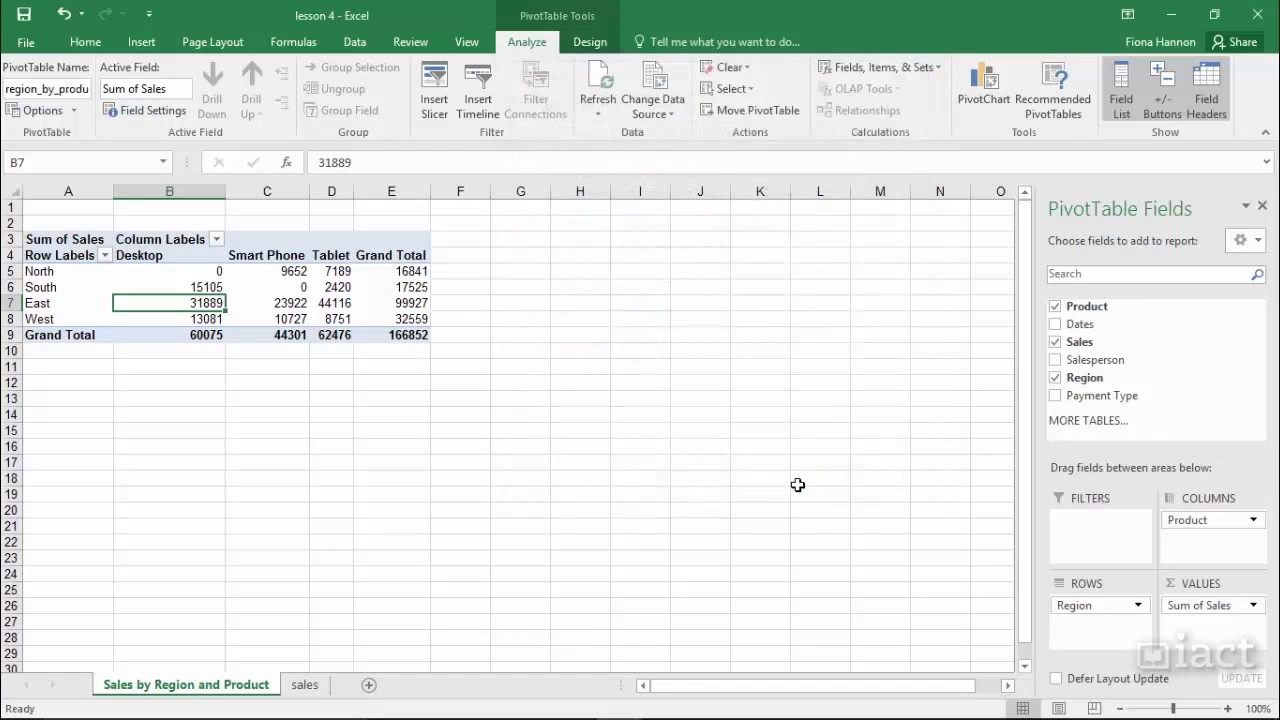 editing pivot table excel 2016 pivot table youtube