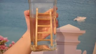 Трюк: деревянная лестница в бутылке. / The trick: a wooden staircase in the bottle.(Как сделать сувенир деревянная лестница в бутылке. Материал сосна., 2016-05-07T17:00:21.000Z)