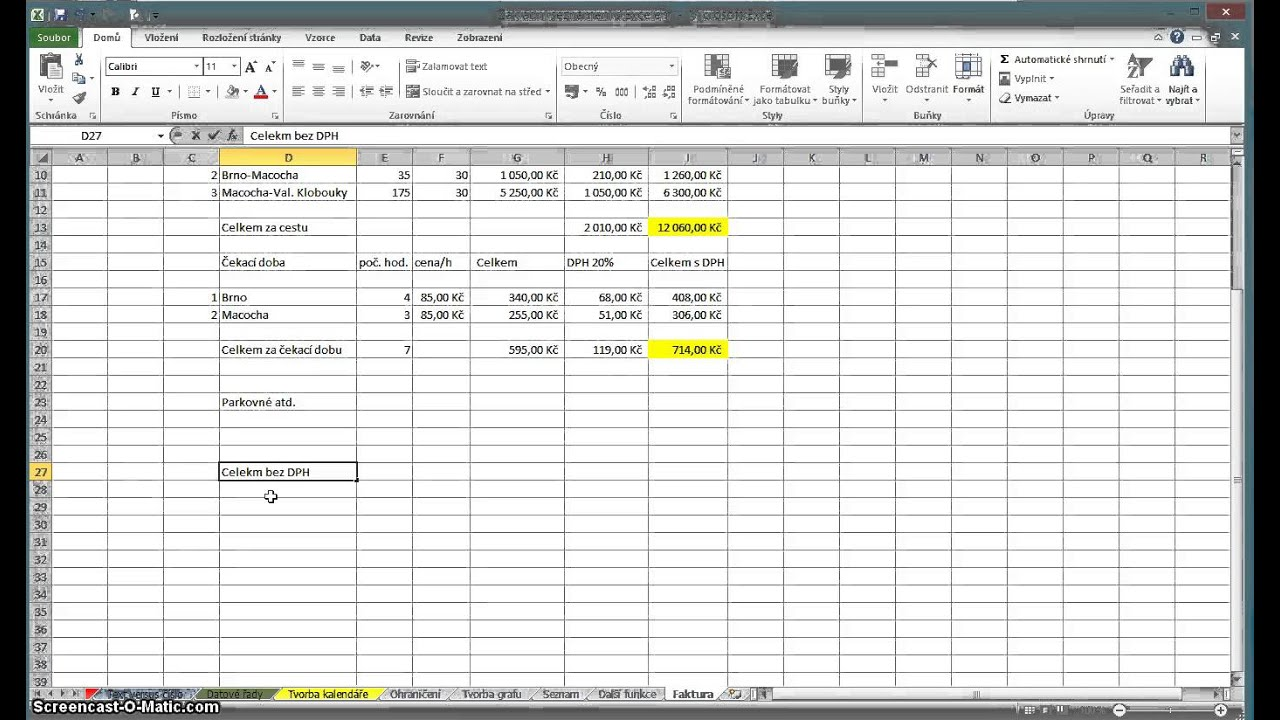 Excel 12 Faktura Youtube
