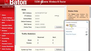 i ball baton 150m wireless n router modem wifi configuration