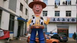 4m High Inflatable Woody For Toy Story
