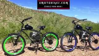 GAS BIKES AND 4-STROKE MOTORIZED BICYCLES By U-MOTO Motorized Bicycles And umotobikes.com