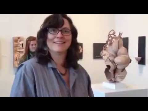 Val Gilman Demonstrating Sculpture at the Erie Art Museum