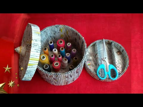 Newspaper craft | best out of waste craft idea | recycle newspaper | HMA##341