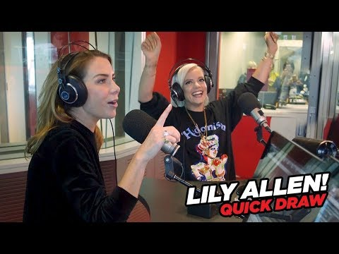 Lily Allen gets COMPETITIVE with Kate Ritchie in Quick Draw!