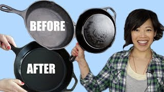 CAST IRON Pans 101 | How to season, wash & restore