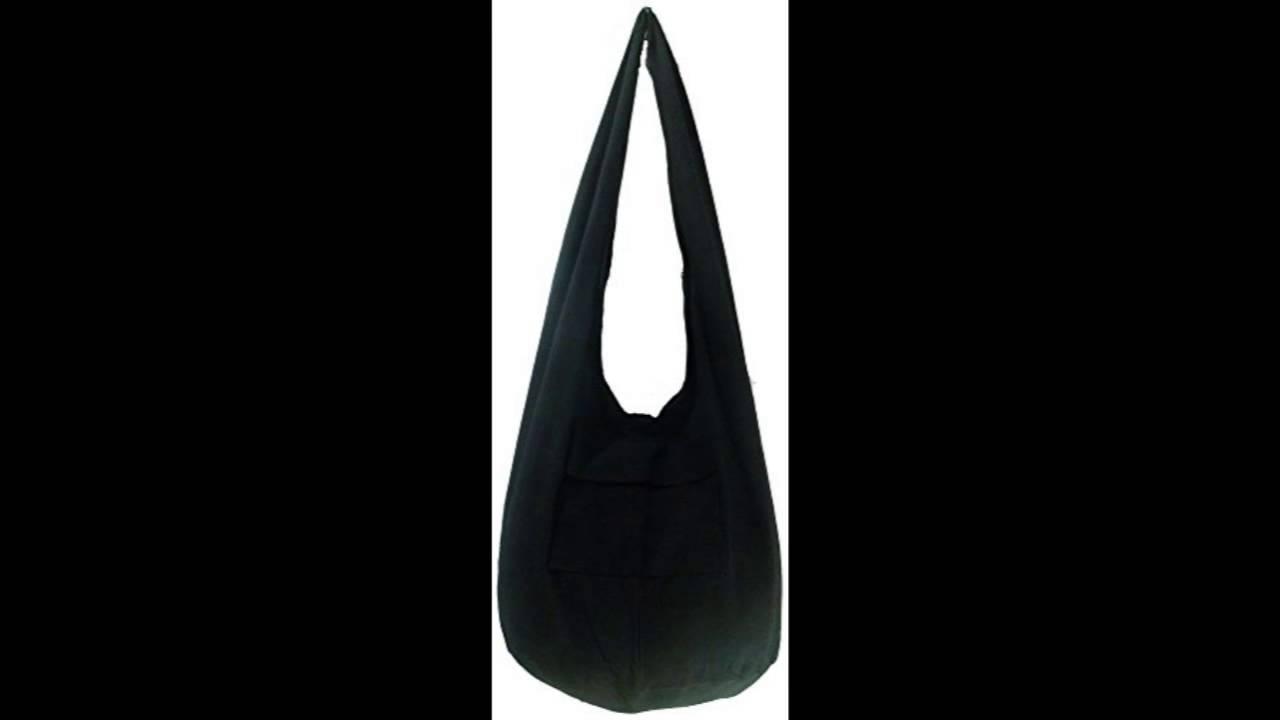 8a31dc1893 Rare Asian East Hippie Hobo Cotton Sling Cross-body Handmade Asia Black Thai  Pattern Bag Shoulder - YouTube