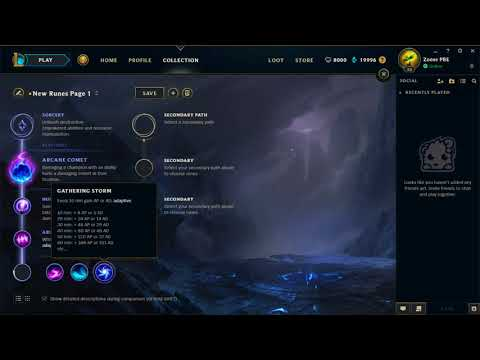 MAGE / AP MID RUNE PAGE | Tutorial | Season 8 | Summon Aery + Arcane Comet + Phase Rush