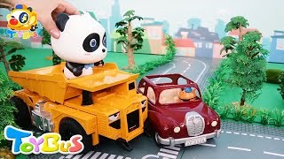 Super Panda Catches Thief | Super Truck | Car Story | Supermarket Shopping | Toy Story | ToyBus
