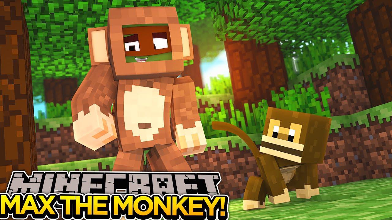 Minecraft Adventure PRANKING MAX THE MONKEY YouTube