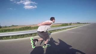 Miroslav Lukic  60km/h   Flat  2017 Raw Clips Inlineskating Rollerblading highway Nino
