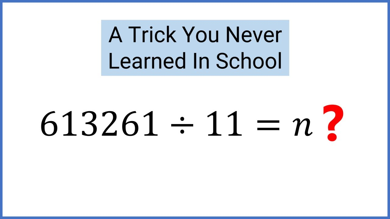 hight resolution of SIMPLE Divisibility By 11 Test - The Alternating Sum Of Digits - YouTube