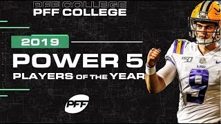 College Football Power 5 players of the year | PFF Video