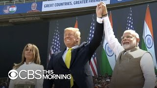 President Trump's India trip includes massive rally