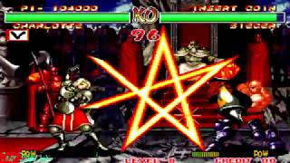 Samurai Shodown 2 - Charlotte (Arcade) Level 8