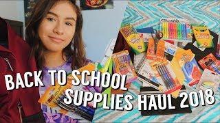 BACK TO SCHOOL SUPPLIES HAUL 2018 (JUNIOR YEAR)
