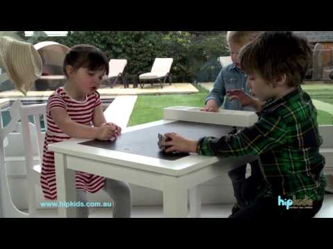 Kids Table and Chairs with Storage Compartment