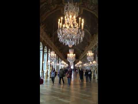 Eric Clark's Travel Videos - Paris France - Walking around Versailles 3 - Mirror Room AMAZING