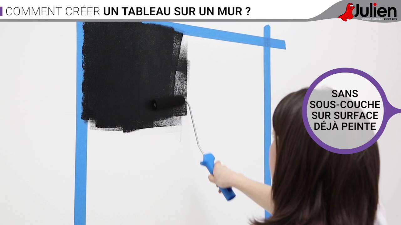 Comment créer un tableau sur un mur ? - Peintures Julien - YouTube