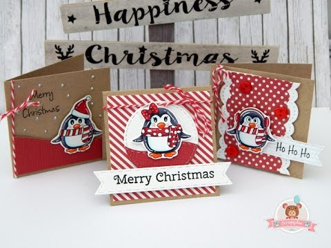 mini christmas cards free digital stamps - Free Digital Christmas Cards