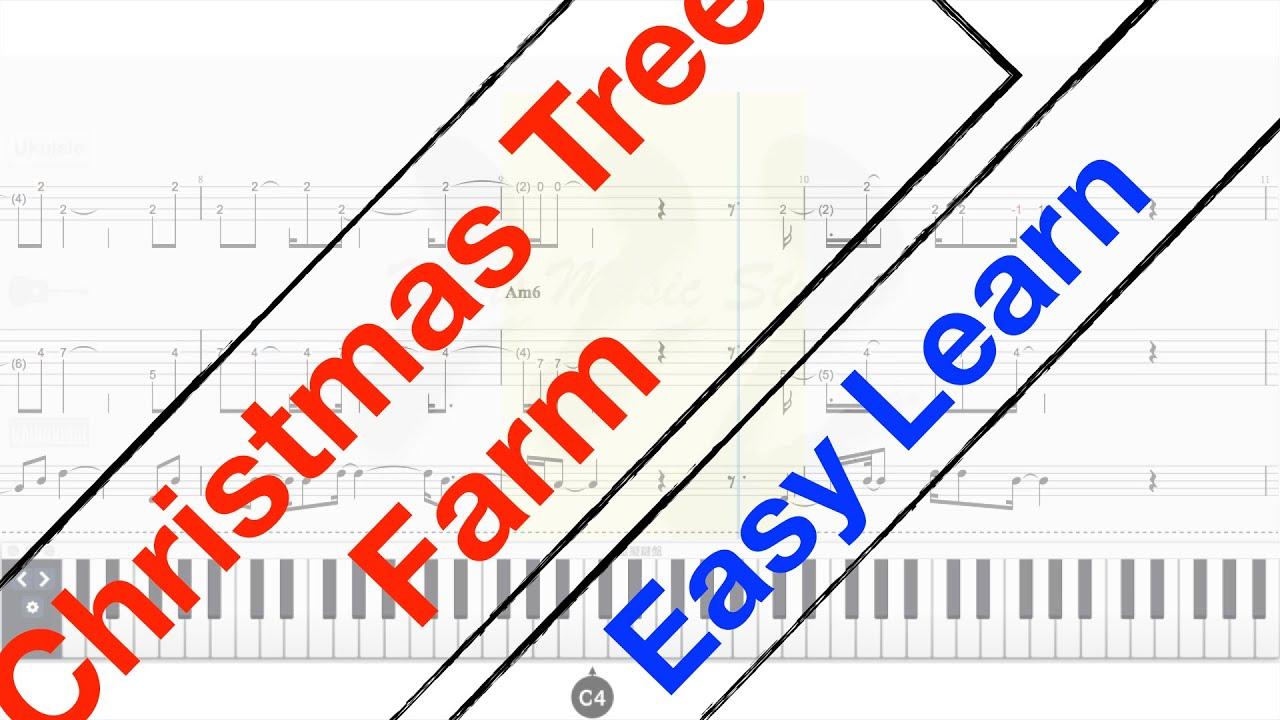 Christmas Tree Farm - Taylor Swift - Easy for Beginner #2 - Guitar,Ukulele,Piano Tutorial TAB ...
