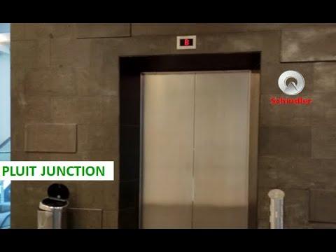 Schindler 5400 AP MRL Scenic Elevator at Pluit Junction Jakarta