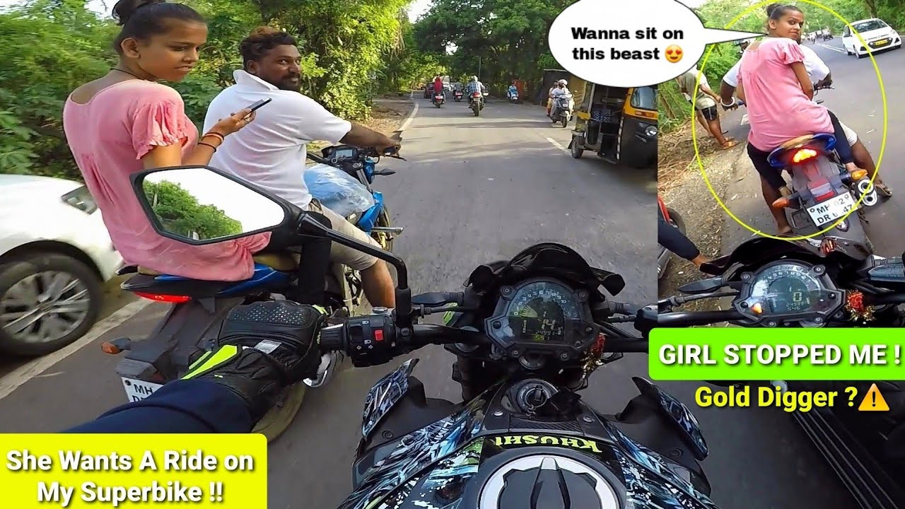 Girls Madness for My Superbike😍|she Won my💖|Not a Gold Digger|Stopped me|Must watch|Z900 Rider