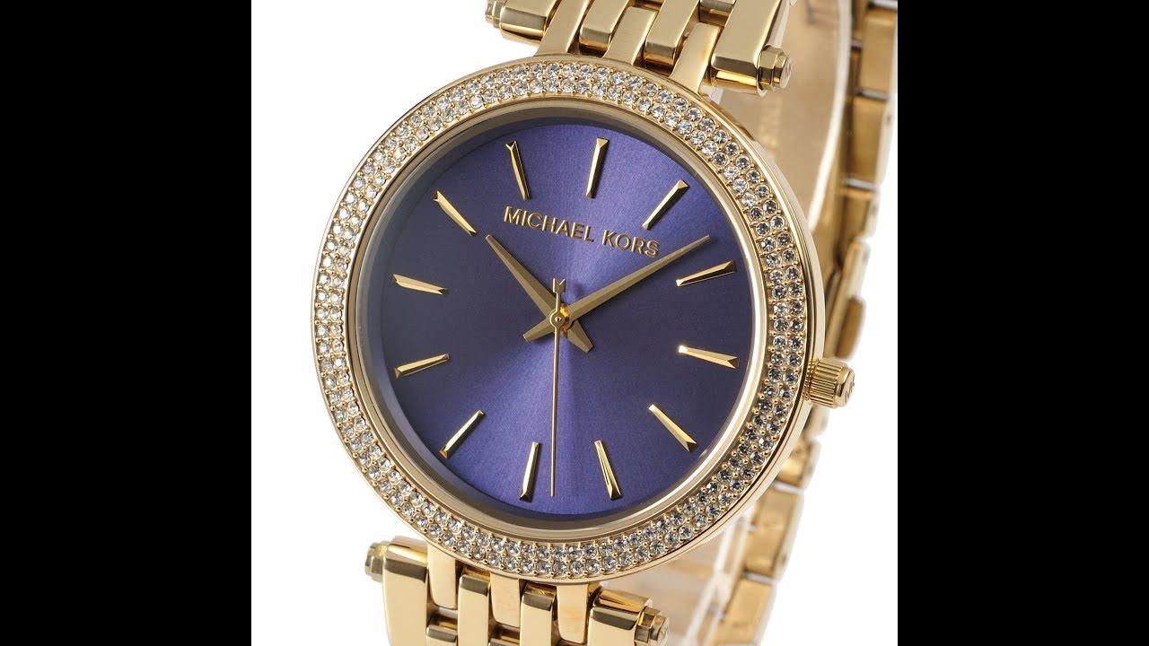 b9646339198a NEW MICHAEL KORS MK3406 LADIES WATCH DARCI BLUE GOLD MK3406 マイケル・コース ダルシー  ゴールド ブルー レディース腕時計