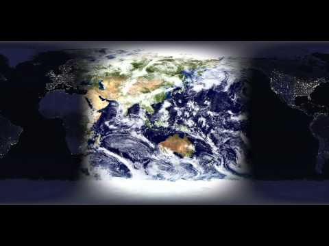 Blue Marble Imagery w/ Night Lights [1080p]