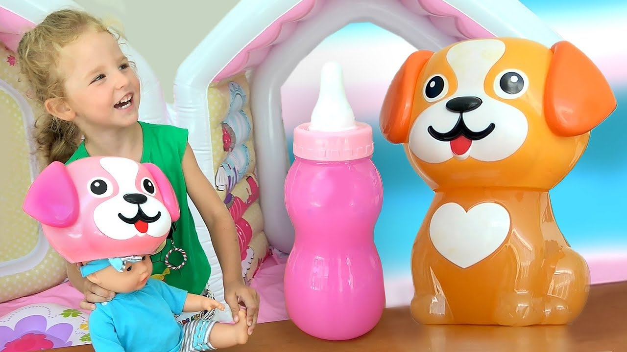 Milana plays and Funny Doll and mixed colors for children