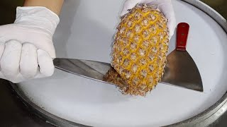 PINEAPPLE Ice Cream Rolls l How To Make Ice Cream Rolls With Pineapple l Live Ice Cream Rolls