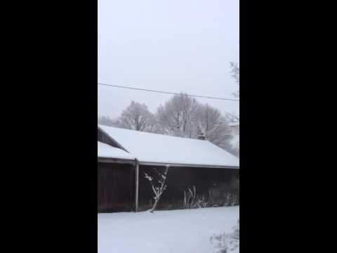 My street in Jamestown ny after snow from night before 2-2-