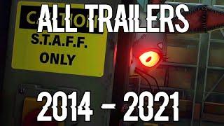 All FNAF Trailers 2014 - 2021 FNAF 1 to FNAF 9 SECURITY BREACH