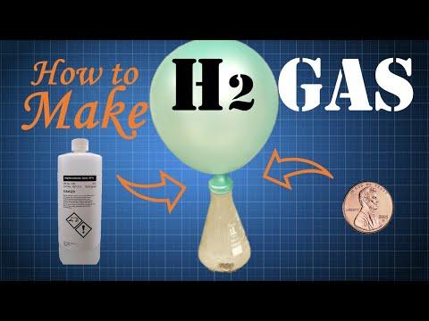 DIY Hydrogen Gas (Hydrochloric Acid + Zinc)