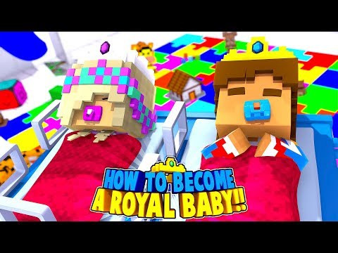 LITTLE DONNY IS A NEW BORN ROYAL BABY PRINCE!! Minecraft Roleplay